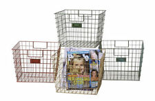 "Great Multi use Vintage Look  Square Wire Locker Basket 12""~nwt~Back in Stock!!!"