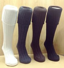Comfortable Thick Chunky Knit Kilt Hose Socks Great  Colours. UK Made.