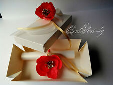 "WEDDING INVITATIONS PACK "" Fire Flower "" + BOXES + PRINTING + PERSONALIZE"