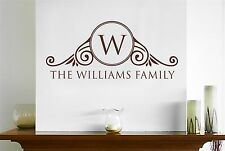 Personalised Family Surname Ornate Home Sign Wall Stickers Art Decals