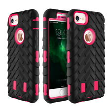 Tyre Rubber Hybrid Heavy Duty High Impact Shockproof Case Cover for iPhone 4 4S
