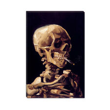 Skull With Cigarette (1885) Vincent van Gogh Canvas Print Painting Reproduction