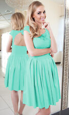 Party Bridesmaid Evening Lace Prom Cocktail Formal Skater Ladies Women Dress
