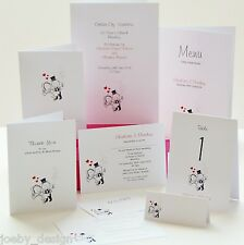 Personalised Wedding Invitations & Wedding Stationery Bride and Groom Design
