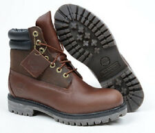 "TIMBERLAND 6145R MEN'S 6"" PREMIUM BROWN LEATHER WATERPROOF BOOTS SZ.9.5, 11.5"