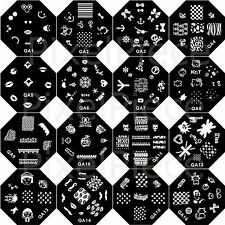 Nail Art Stamping Template Metal Image Design Manicure Decor Plate QA Series
