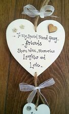 Special FRIEND Birthday Present Gift 18th 21st 30th 40th 50th 60th Wall Plaque
