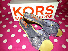 NEW! MICHAEL KORS GALAXY NIGHT SKY SLIDE CLOG SANDALS SHOES GIRLS YOUTH 2&3  NWT