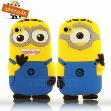 3D New Despicable Me Lovely Cartoon MINIONS Silicone Case Cover For iPhone 4 4S