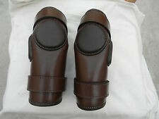 2 Strap Polo & Ridding Knee Guards Leather and Padded--