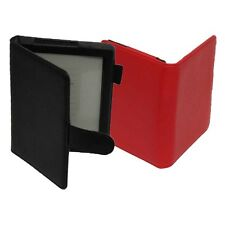 Black Red Faux Leather book-style stand Case Cover for Kobo Aura Ebook Reader