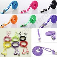 1M Flat Noodle Sync Data Charging Charger Cable Cord For iPhone 5 5S 5c 6 Plus