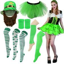 Ladies Womens St Patricks Day Fancy Dress Green Tutu Socks Leprechaun Paddys