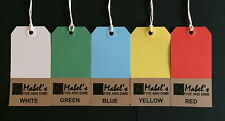 Coloured Strung Tags Luggage Labels