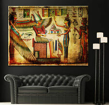 Canvas Old Egyptian Papyrus Giclee Decor Fine Home Art Prints Colorful Print
