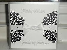 Beautiful Luxury Handmade Personalised SILVER/WHITE WEDDING STATIONARY