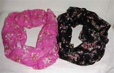 Infinity Floral Print Soft Lace Circle Scarf #007 New In Original Package