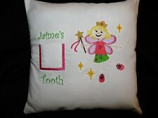 Custom Made Tooth Fairy Pillow - Gold Crown