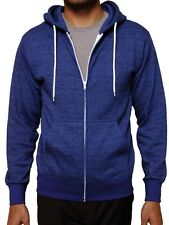Men's Zipper Hoodie Salt & Pepper Full Zip Hooded Sweatshirt Slim Fit Unisex New