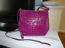 NEW $ 225 Brahamin  ArdenLa Scala  Crossbody  Bag  Purple/Zinfadel