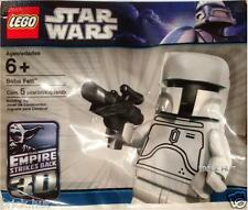 LEGO STAR WARS - WHITE BOBA FETT FIGURE - SEALED IN POLYBAG + GUN - RARE - NEW
