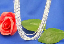 Wholesale 5ps silver 1.4mm role chains necklace