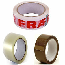 Clear Brown Fragile Tape Sellotape 48MM x 50M Packaging Tape