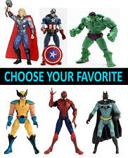 3Pcs AVENGERS HERO ACTION FIGURES Wolverine Batman HULK THOR CAPTAIN AMERICA