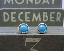 Silver Birthstone Earrings December Turquoise Blue Green Made with Swarovski 925