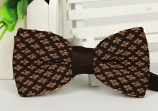 Men's Fashion Multi-Colour Striped Bowtie Knit Knitted Pre Tied Bow Tie Woven