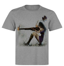 Caitlyn Cool White T-Shirt Gamer PC Geek League of Legends LoL DOTA Game Tee