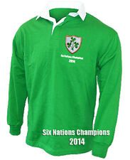 Ireland Six Nations Champions 2014 Retro style Rugby Shirt