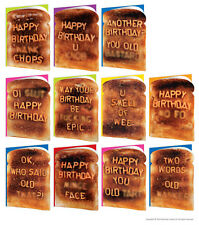 Brainbox Candy Toast Birthday greeting cards funny rude cheeky risque joke