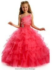 2014 New style wholesale beautiful A-line beaded custom size/color flower girl d