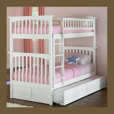 Bunk Beds For Kids Twin over Twin - White -- Girls and Boys