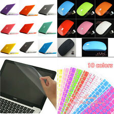 12 Colors 4in1 Matte Rubberized Hard Case Wireless mouse for Macbook Pro 13''