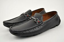 Men's Black Casual Shoes Driving Moccasins Loafers Slip On Soft Medium(D,M) 2266