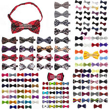 Mens Tuxedo Solid Floral Grid Cotton Plaid Color Bow Tie Party Wedding Bowtie