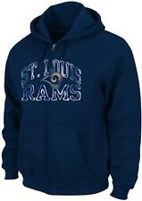 St Louis Rams NFL Team Apparel Go For Two II Full Zip Hoodie Big & Tall Sizes