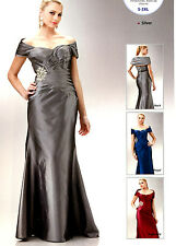 3 COLORS FORMAL OCCASION MOTHER OF BRIDE / GROOM CLASSY EVENING LONG DRESS S-3XL