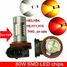 80W LED High Power SMD Car Truck Auto Fog DRL Light Projector Lens Bulb Lamps