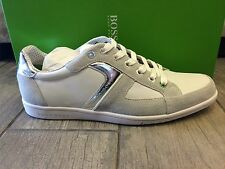 HUGO BOSS Mens Shoes White Sneakers Trainers OSHEA NY by BOSS Green - New In Box