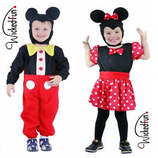 Boys Girls Minnie Mickey Mouse Style Costume Fancy Dress Age 2-4 Cute Red Spotty