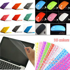 12 Colors 4in1 Matte Rubberized Hard Case Wireless mouse for Macbook Pro 15''
