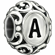 Authentic Chamilia Initially Speaking All Letter initial Charm Bead 2020-0726
