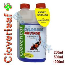 Cloverleaf Chlorine Answer Pond Treatment Water Conditioning Koi Goldfish