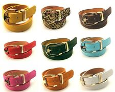 Colorful Women's Fashion Casual Buckle Dress Leather Girdle Belt Strap GLPD101