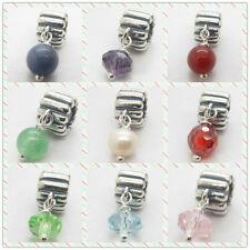Genuine Rare 925 Birthstone Charm January - December Retired bead YB032