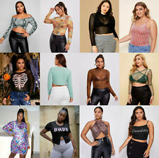 New Wholesale Lot Sexy Women Plus Size Tops Shirts Blouse Dress Romper XL 2X 3X