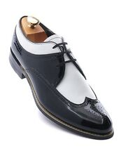 Stacy Adams Black White Patent Leather Mens WingTip Trending Dress Oxford Shoe